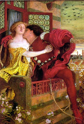 Romeo and Juliet, watercolor by Ford Maddox